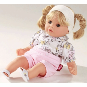 "Gotz 13"" Cosy Aquini Doll with Blonde Pigtails"