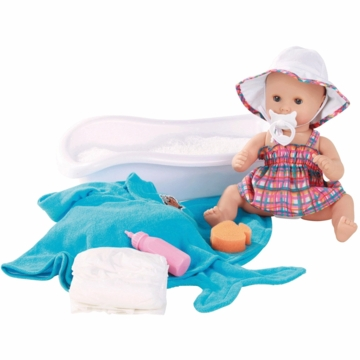 "Gotz 13"" Sleepy Aquini Doll with Bath Set"
