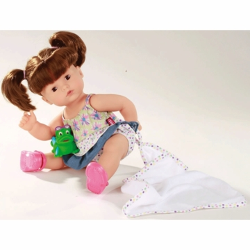 "Gotz 16.5"" Maxy Aquini Doll with Beach Set - Brunette Hair"