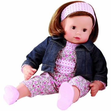 "Gotz Maxy Muffin 16.5"" Doll - Brunette with Floral Outfit"