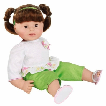 "Gotz Maxy Muffin 16.5"" Doll - Brunette with Pigtails"