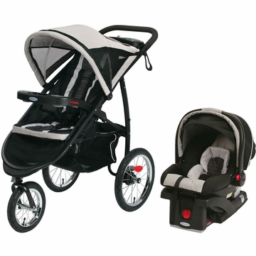 Graco FastAction Jogger & SnugRide 30 Click Connect Travel System - Pierce