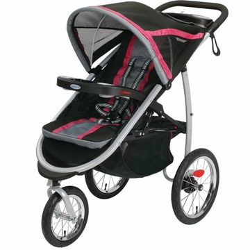 Graco FastAction Fold Click Connect Jogging Stroller - Azalea