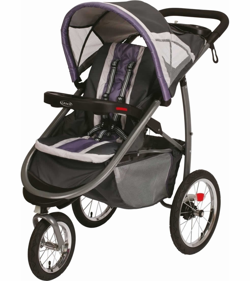 Graco FastAction Fold Click Connect Jogging Stroller - Grapeade