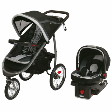 Graco FastAction Fold Jogger Click Connect Travel System - Gotham