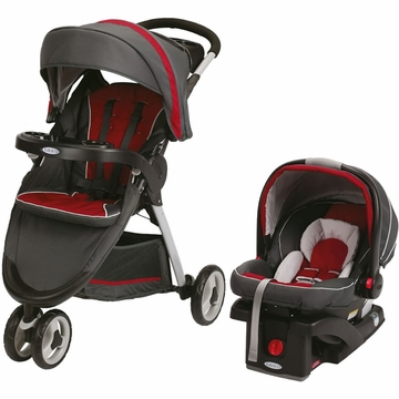 Graco FastAction Fold Sport Click Connect Travel System - Chili Red