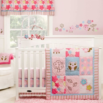 Graco Girl Woodland 3 Piece Crib Bedding Set by KidsLine