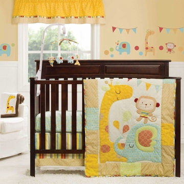Graco Jungle Friends 3 Piece Crib Bedding Set by KidsLine