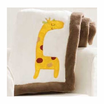 Graco Jungle Friends Embroidered Boa Blanket by KidsLine