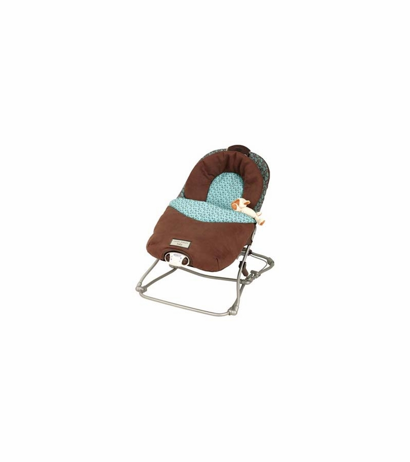 Graco Laura Ashley Travel Bouncer 8970AUB In Aqua Bay
