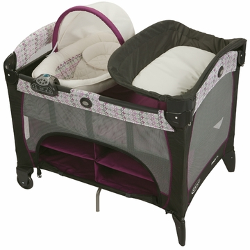 Graco Pack n Play Playard with Newborn Napper Station DLX - Nyssa