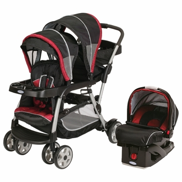 Graco Ready To Grow Stand & Ride Duo Travel System - Lyric