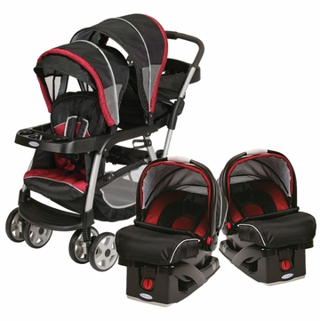 Graco Ready To Grow Stand & Ride Duo Travel System with 2 Car Seats - Lyric