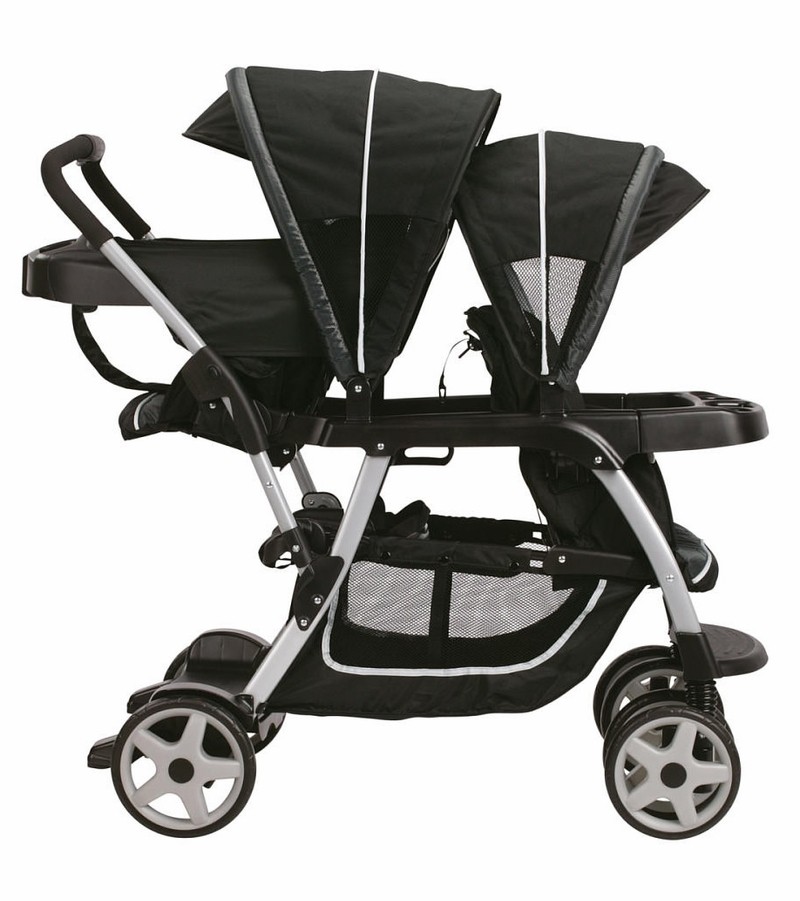 Graco Ready2Grow Click Connect LX Double Stroller - Gotham