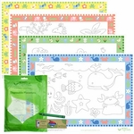 Green Sprouts Disposable Placemats, Assorted Designs - 8pk