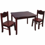 Guidecraft Classic Espresso Table & Chairs Set