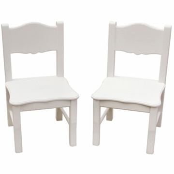 Guidecraft Classic White Extra Chairs - Set of 2