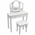 Guidecraft Classic White Vanity & Stool