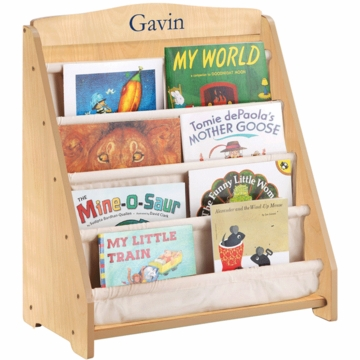 Guidecraft Expressions Personalized Book Display in Natural
