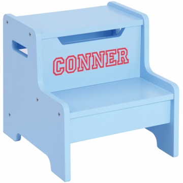 Guidecraft Expressions Personalized Step Stool in Light Blue