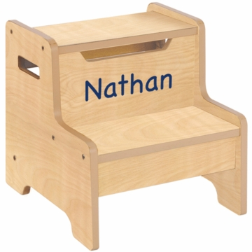 Guidecraft Expressions Personalized Step Stool in Natural