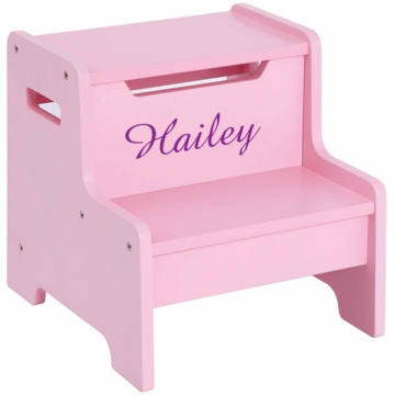 Guidecraft Expressions Personalized Step Stool in Pink