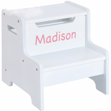 Guidecraft Expressions Personalized Step Stool in White