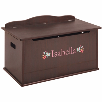 Guidecraft Expressions Personalized Toy Box in Espresso