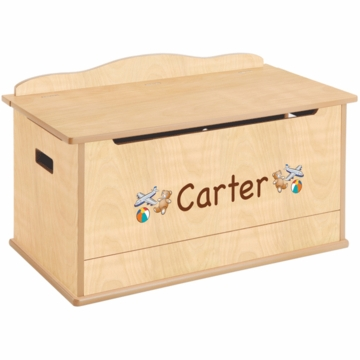 Guidecraft Expressions Personalized Toy Box in Natural