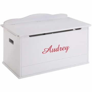 Guidecraft Expressions Personalized Toy Box in White