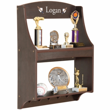Guidecraft Expressions Personalized Trophy Rack in Espresso