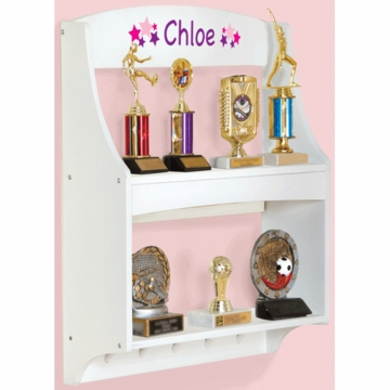 Guidecraft Expressions Personalized Trophy Rack in White