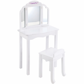 Guidecraft Expressions Personalized Vanity & Stool in White