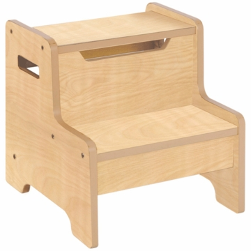 Guidecraft Expressions Step Stool in Natural