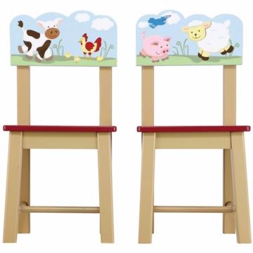 Guidecraft Farm Friends Extra Chairs - Set of 2