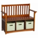 Guidecraft Misson Storage Bench with Bins
