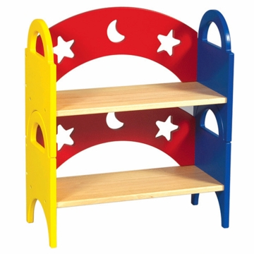 Guidecraft Moons & Stars Stacking Bookshelves
