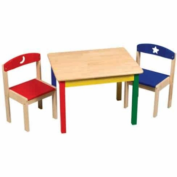 Guidecraft Moons & Stars Table & Chairs Set