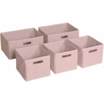 Guidecraft Pink Storage Bins - Set of 5
