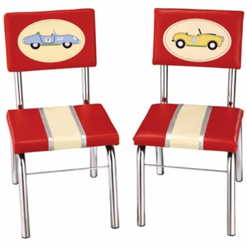 Guidecraft Retro Racers Extra Chairs - Set of 2