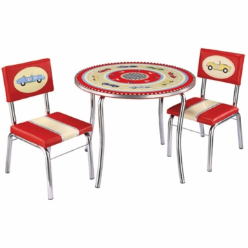 Guidecraft Retro Racers Table & Chairs Set