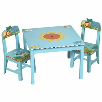 Guidecraft Safari Table & Chairs Set