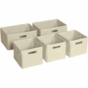 Guidecraft Tan Storage Bins - Set of 5