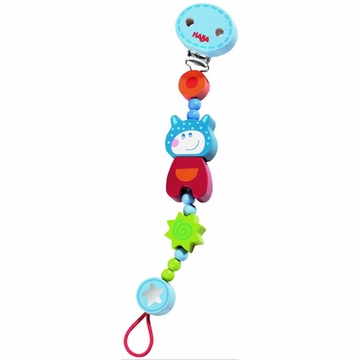 Haba Lollipop Pacifier Chain - Cow