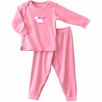Halo ComfortLuxe Flannel Feel 2 Piece Set in Pink Unicorn - 3T