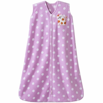 Halo SleepSack Micro Fleece Wearable Blanket in Kitty Dots - Medium