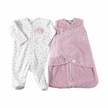 Halo SleepSack Velboa Wearable Blanket & Coverall 2 Piece Set in Pink Rose - Newborn