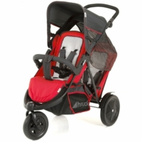 Hauck FreeRider Stroller with Second Seat & Car Seat Adapter in Red