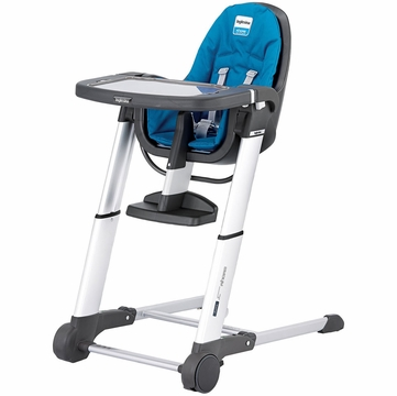 Inglesina 2013 Zuma Gray High Chair - Light Blue