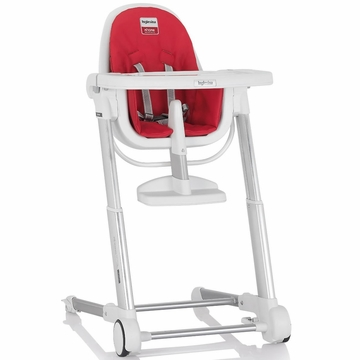 Inglesina 2014 Zuma White High Chair - Red